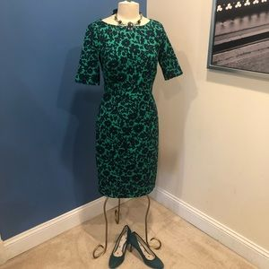 Boden *stunning* green floral dress 8US Worn once